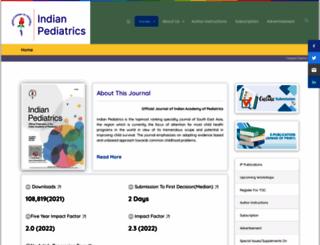 indianpediatrics.net screenshot