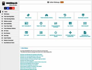 indianrailways.info screenshot
