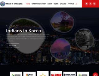 indiansinkorea.com screenshot