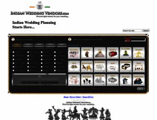 indianweddingvendors.com screenshot