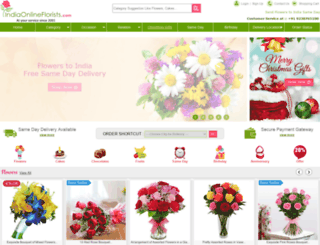 indiaonlineflorists.com screenshot