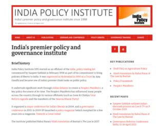 indiapolicy.org screenshot