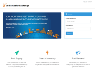 indiarealtyexchange.com screenshot