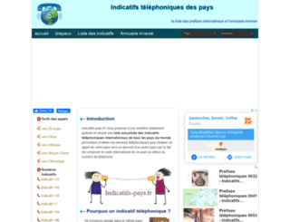 indicatifs-pays.fr screenshot