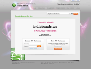 indiebands.ws screenshot