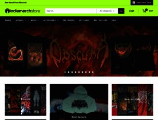 indiemerchstore.com screenshot
