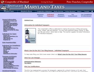 individuals.marylandtaxes.com screenshot