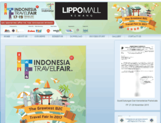indonesiatravelfair.com screenshot