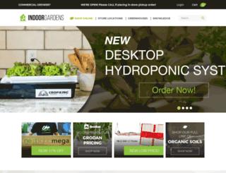 indoorgardens.com screenshot