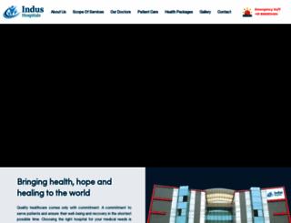 indushospital.com screenshot