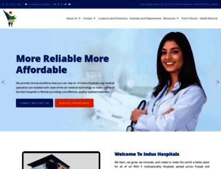 indushospital.in screenshot