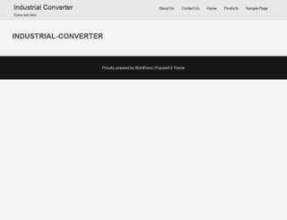industrial-converter.com screenshot