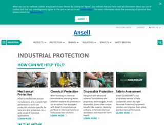 industrialcatalogue.ansell.eu screenshot