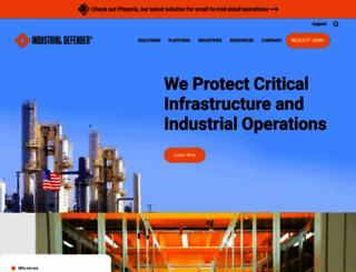 industrialdefender.com screenshot