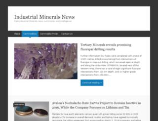 industrialmineralsnews.com screenshot