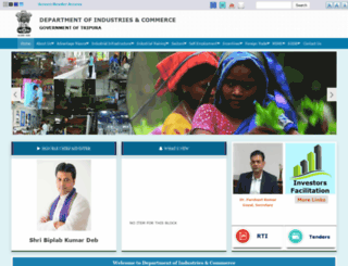 industries.tripura.gov.in screenshot