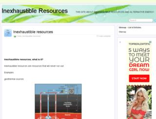 inexhaustibleresources.org screenshot