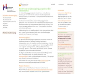 inf.fh-flensburg.de screenshot