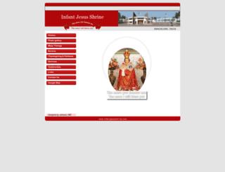 infantjesusshrine.com screenshot