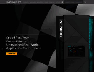 infinidat.com screenshot