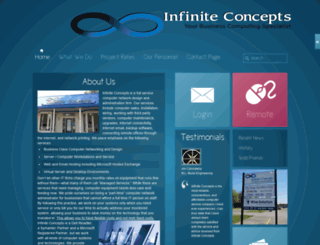 infiniteconcepts.com screenshot