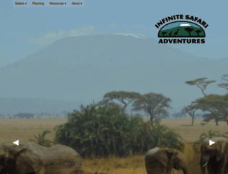 infinitesafariadventures.com screenshot