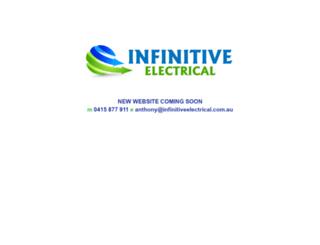 infinitiveelectrical.com.au screenshot
