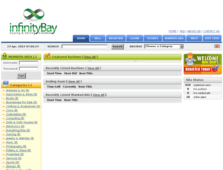 infinitybay.co.uk screenshot