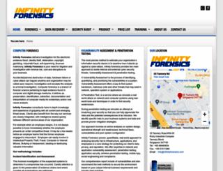 infinityforensics.com screenshot
