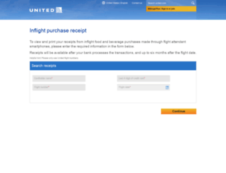 inflightreceipts.ual.com screenshot