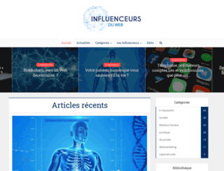 influenceursduweb.org screenshot