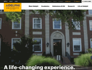 info.adelphi.edu screenshot