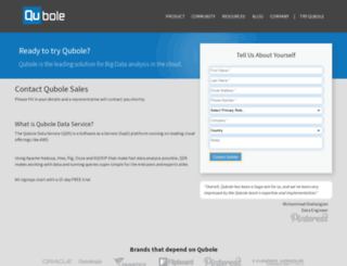 info.qubole.com screenshot