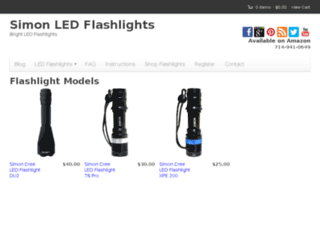 info.simonflashlights.com screenshot