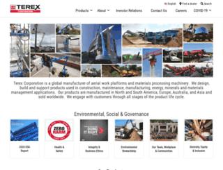 info.terex.com screenshot