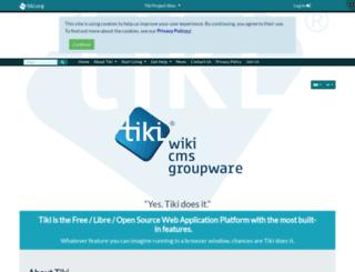info.tiki.org screenshot