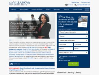 info.villanovau.com screenshot