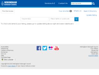 info.wokingham.gov.uk screenshot