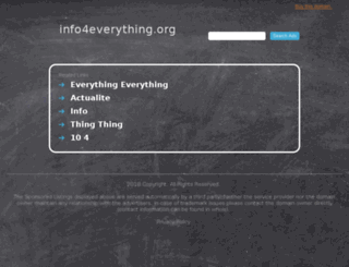 info4everything.org screenshot