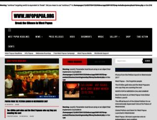 infopapua.org screenshot