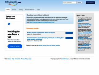 infopeople.org screenshot