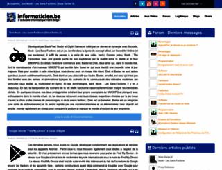 informaticien.be screenshot
