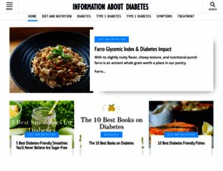 informationaboutdiabetes.com screenshot