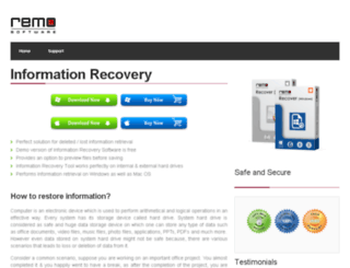 informationrecovery.org screenshot