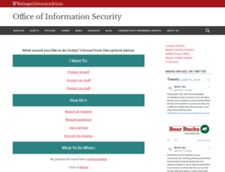 informationsecurity.wustl.edu screenshot