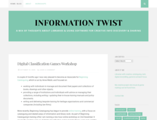informationtwist.wordpress.com screenshot