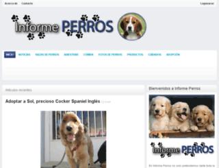 informeperros.com screenshot