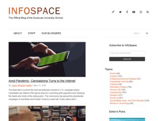 infospace.ischool.syr.edu screenshot