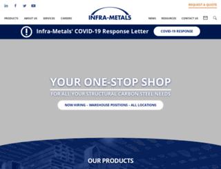 infra-metals.com screenshot