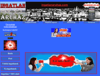ingatlanaruhaz.com screenshot
